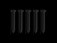 Wkręty mocowania mostków stałych GOTOH TS-02 (BK)
