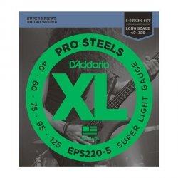 Struny D'ADDARIO ProSteels EPS220-5 (40-125) 5str.