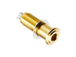 Cylindryczne gniazdo jack stereo HOSCO EP-108 (GD)