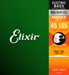 Struny do basu ELIXIR NanoWeb (45-105) X-Long Scal