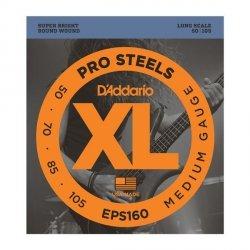 Struny D'ADDARIO ProSteels EPS160 (50-105)