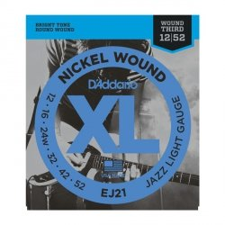 Struny D'ADDARIO XL Nickel Wound EJ21 (12-52)
