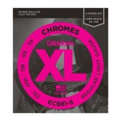 Struny D'ADDARIO Chromes ECB81-5 (45-132) 5str.