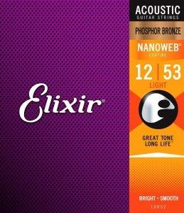 Struny ELIXIR NanoWeb Phosphor Bronze (12-53)