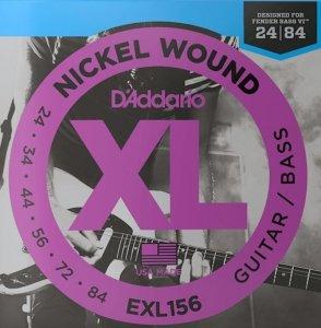 Struny D'ADDARIO Fender Bass VI EXL156 (24-84)