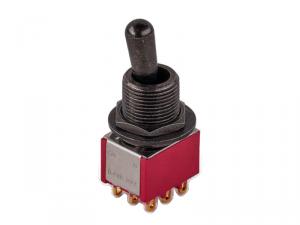 Przełącznik 3PDT on-on maxi MEC 80020 (BK)