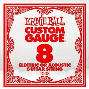 Pojedyncza struna bez owijki ERNIE BALL Slinky 008
