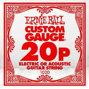 Pojedyncza struna bez owijki ERNIE BALL Slinky 020