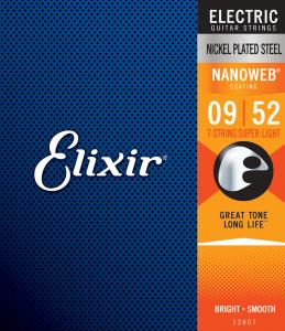 Struny ELIXIR NanoWeb Nickel Plated (9-52) 7str