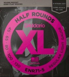 Struny D'ADDARIO Half Rounds ENR71-5 (45-130) 5str