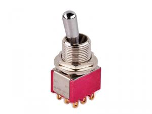 Przełącznik 3PDT on-on maxi MEC 80020 (CR)