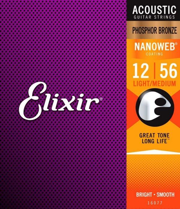 Struny ELIXIR NanoWeb Phosphor Bronze (12-56)