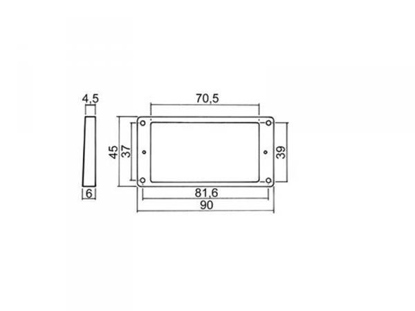 Płaska niska ramka humbuckera BOSTON HPF02S (BK)