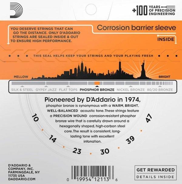 Struny D'ADDARIO Phosphor Bronze EJ15 (10-47)