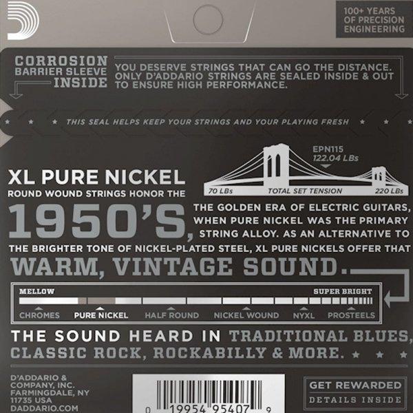 Struny D'ADDARIO XL Pure Nickel EPN115 (11-48)