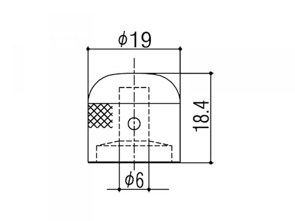 Gałka metalowa GOTOH VK1-19 (CR)