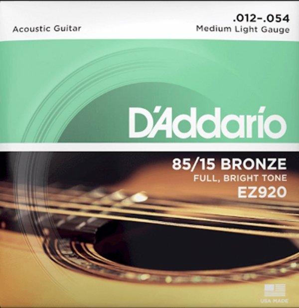 Struny D'ADDARIO 85/15 Bronze Wound EZ920 (12-54)