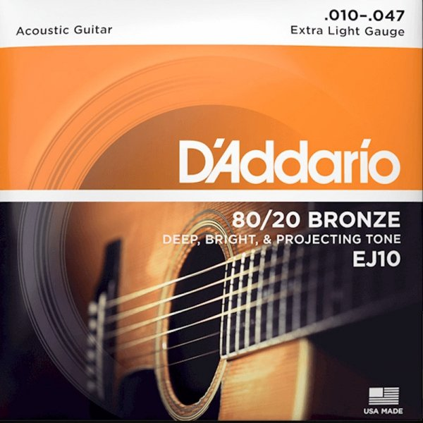 Struny D'ADDARIO 80/20 Bronze Wound EJ10 (10-47)
