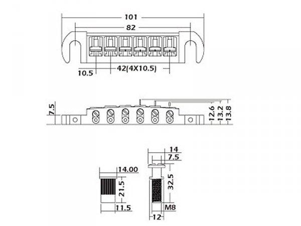 Mostek wraparound VPARTS WB-02 (CR)
