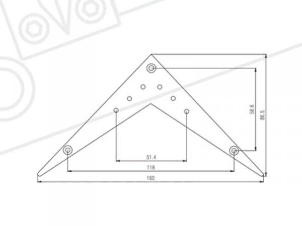 Zaczep strun SUNG IL TA001 (chrom)