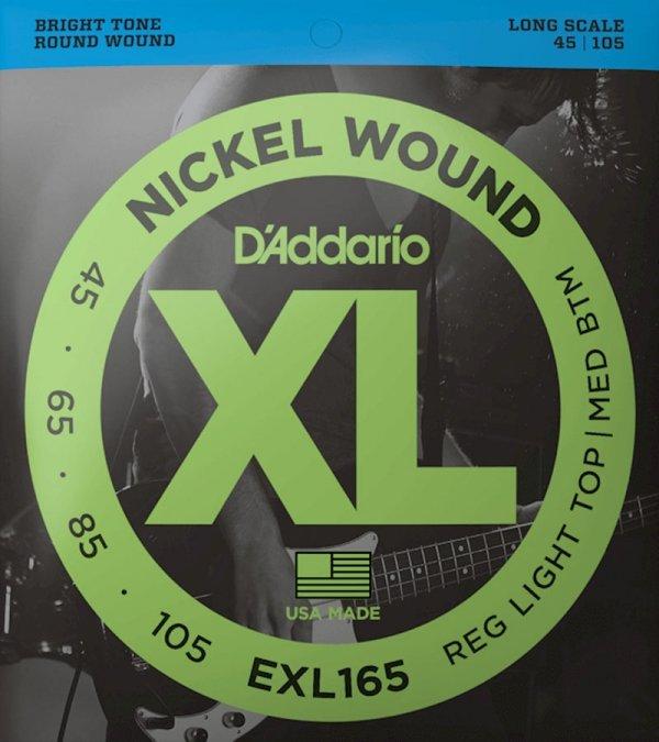Struny D'ADDARIO Nickel EXL165 (45-105)