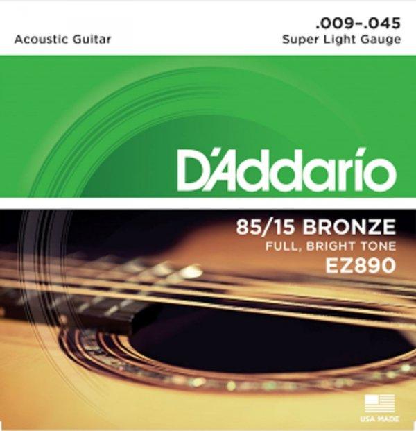 Struny D'ADDARIO 85/15 Bronze Wound EZ890 (9-45)