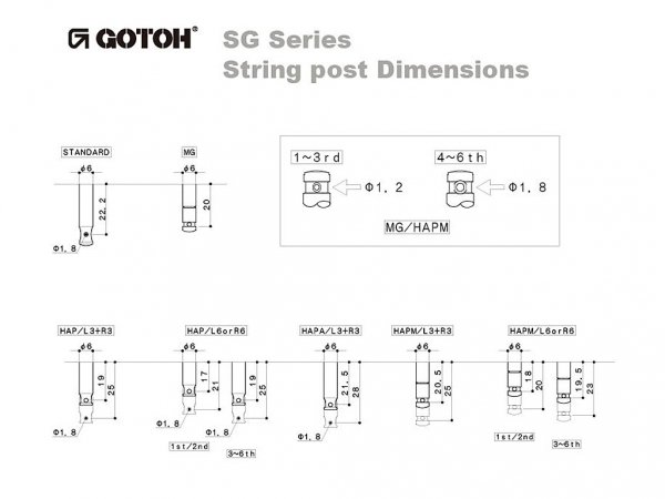 Klucze do gitary GOTOH SG381-04 (GD,3+3)