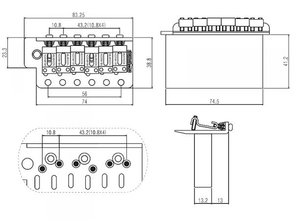 Tremolo WILKINSON WVC-SB (BK)