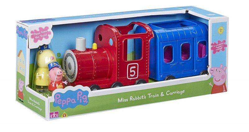 Tm Toys PEPPA Pociąg z wagonikiem + figurki