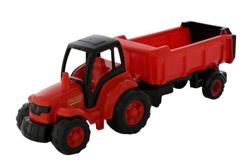 WADER-POLESIE Pojazd Mistrz Traktor z naczepą w siatce