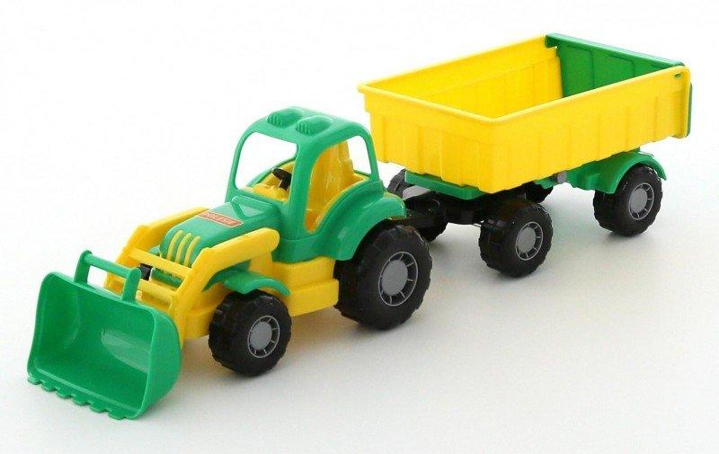 WADER-POLESIE Pojazd Osiłek Traktor z przyczepą i łyżka