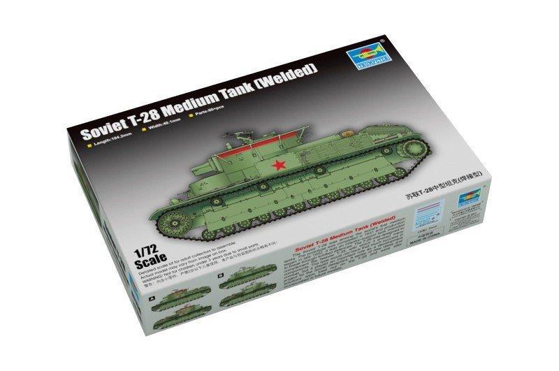 Trumpeter Model plastikowy T-28 radziecki czołg średni (welded)