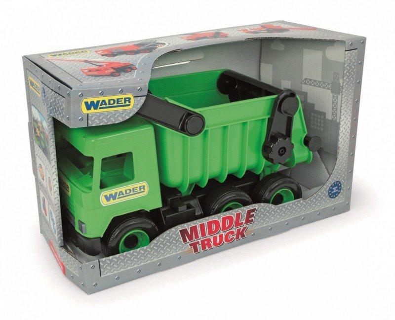 Wader Wywrotka zielona Middle Truck w kartonie