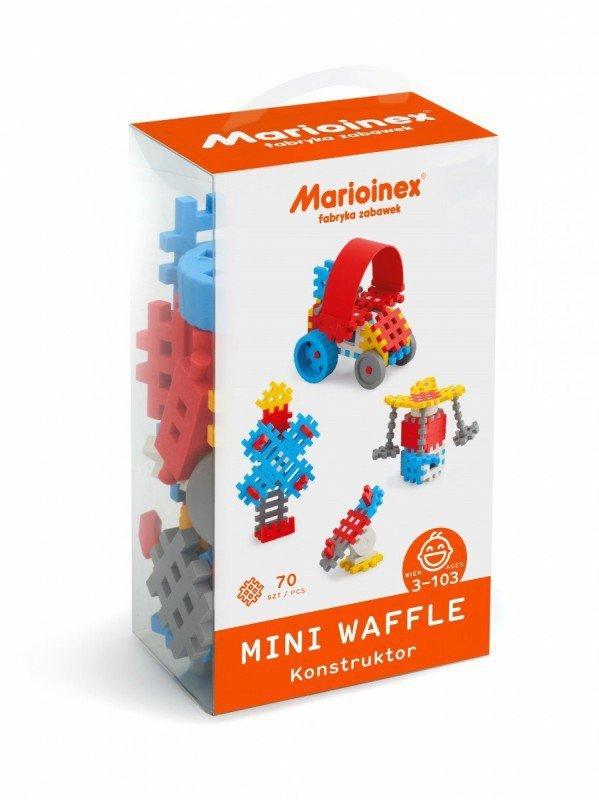 Klocki waffle mini 70 sztuk chłopiec
