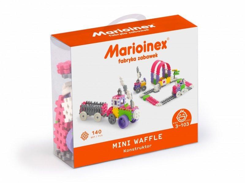 Marioinex Klocki waffle mini  140 sztuk dziewczynka