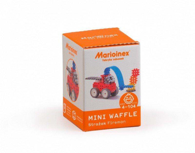 Marioinex Klocki konstrukcyjne Mini Waffle Strażak Zestaw Mały