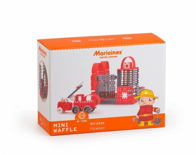 Marioinex klocki konstrukcyjne Mini Waffle Strażak Zestaw Duży