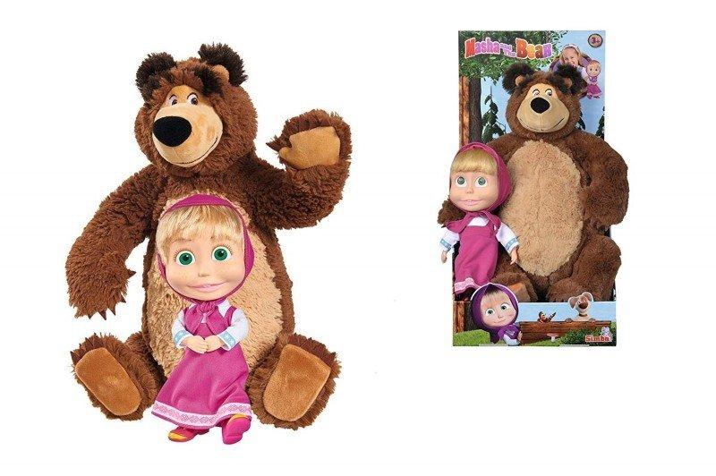 Zestaw pluszowy Miś i lalka, Masza i Niedźwiedź
