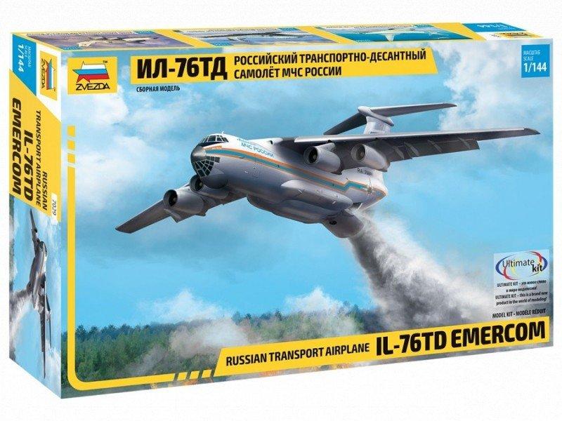Model plastikowy IL-76TD Emercom rosyjski samolot transportowy
