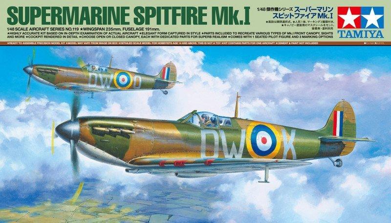 Tamiya Model plastikowy Samolot Supermarine Spitfire Mk.I