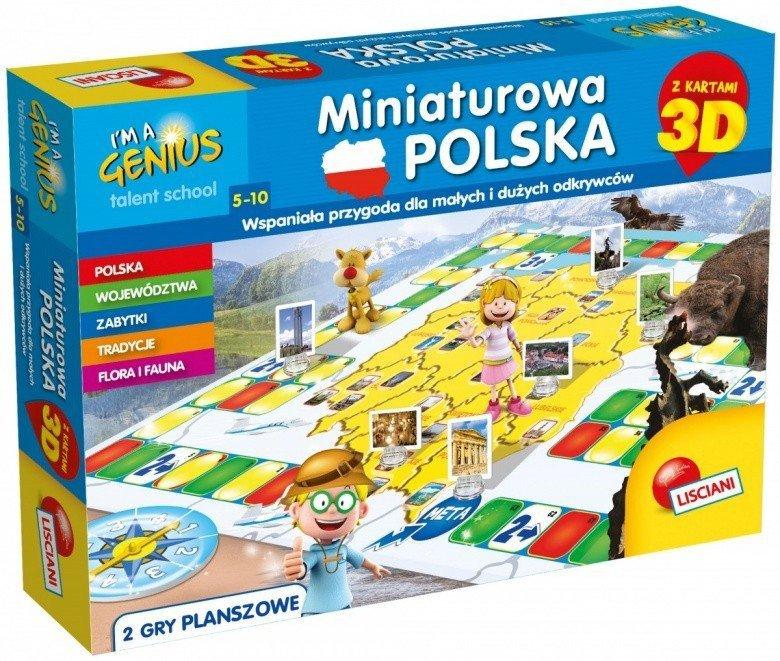 Lisciani Gra Im A Genius - Miniaturowa Polska 3D