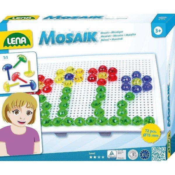 Lena Mozaika Kwiatki 80 elementów 15 mm
