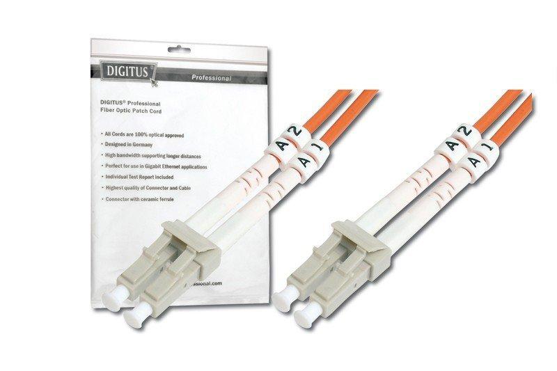 Patch cord światłowodowy FO MM 50/125 OM2 LC-LC 1m