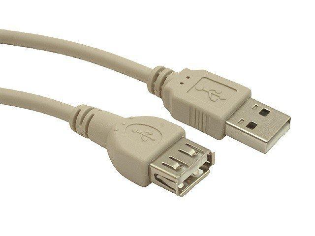 Przedłuzacz USB 2.0 typu AM-AF 0.75m szary
