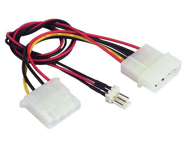 Kabel rozdzielacz zasilania 2xMOLEX/1x3PIN dla wentylatora