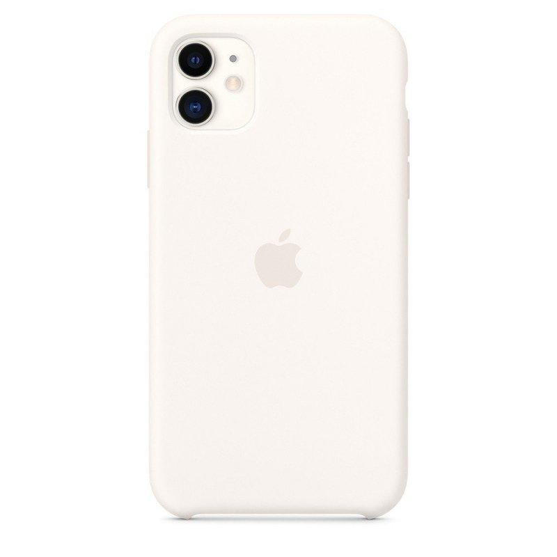 Silikonowe etui do iPhone 11 - białe
