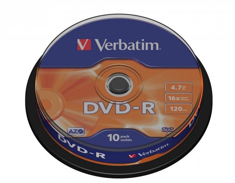 DVD-R 16x 4.7GB 10P CB           43523