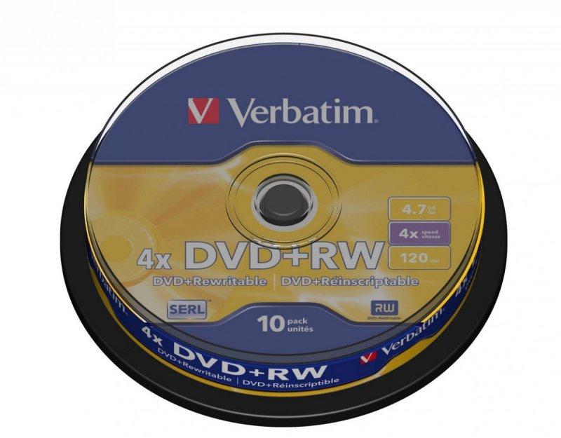 DVD+RW 4x 4.7GB 10P CB             43488