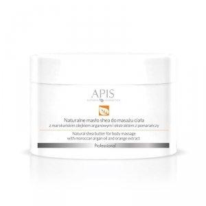 APIS Naturalne masło shea z olejkiem arganowym do masażu ciała 200g