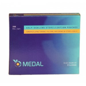 Torebki do sterylizacji MEDAL 57 x 100 mm 200 szt